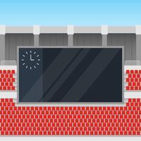Jumbotron no canto de uma ilustração do estádio ao ar livre