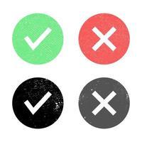 tick and cross vector design ilustração isolada no fundo branco