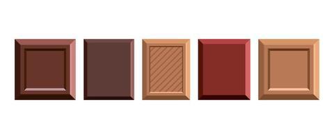 barra de chocolate vector design ilustração isolada no fundo branco