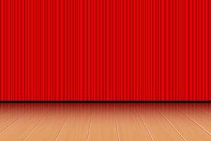 ilustração de desenho vetorial de fundo de palco de teatro vetor