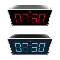 ilustração de desenho vetorial de relógio digital isolada no fundo vetor