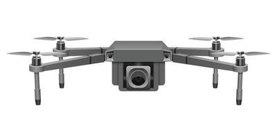 ilustração de desenho vetorial realista drone isolada no fundo branco vetor