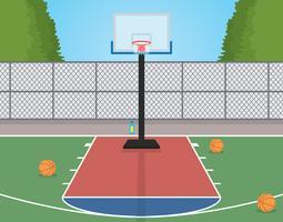 Quadra de basquete vetor