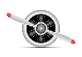 ilustração de desenho vetorial de motor a jato isolada no fundo branco vetor