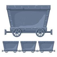 ilustração de desenho vetorial de carrinho de mina isolada no fundo branco