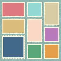 postar selos ilustração de desenho vetorial isolada no fundo vetor