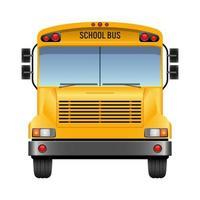 Ilustração em vetor ônibus escolar isolada no fundo branco