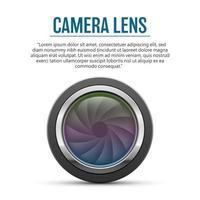ilustração do projeto do vetor da lente da câmera isolada no fundo branco