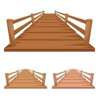 ilustração de desenho vetorial de ponte de madeira vetor