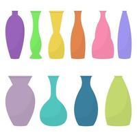 ilustração de desenho vetorial conjunto de vaso isolada no fundo branco vetor