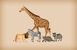 grupo de animal selvagem no fundo