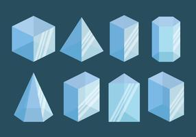 Coleção de vetores prisma