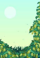 planta de lúpulo vetor