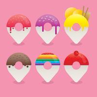 Conjunto de ícones de aplicativos de comida estilo de gradiente realista vetor
