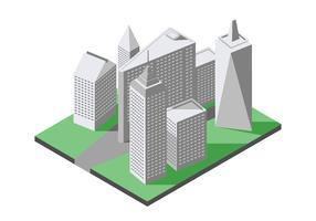 Ilustração Isométrica do Ponto de referência da Cidade de Nova York