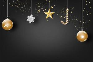 banner de celebração de feliz natal e feliz ano novo