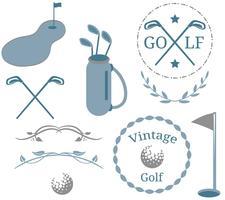 golf vintage 2 vetores