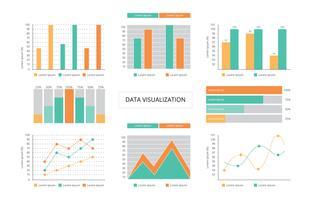 Diagrama de visualização de dados vetor