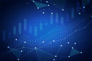 Criptomoeda gráfico de ações com fundo de banner futurista claro vetor