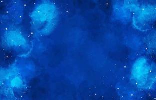 fundo azul do céu noturno em aquarela