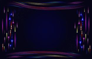 fundo escuro com detalhes em néon vetor