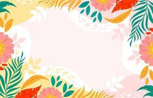 desenho de fundo floral colorido vetor