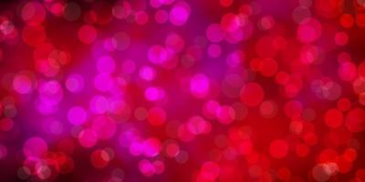 fundo vector rosa claro com círculos.