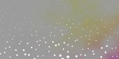 textura de vetor rosa escuro e amarelo com belas estrelas