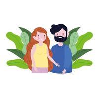 personagem de desenho animado de família mãe e pai vetor
