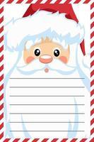 design de cartão de papai noel para carta de natal vetor