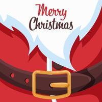 design de cartão de feliz natal com coleira de papai noel vetor