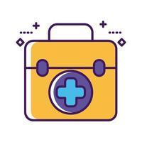linha de kit de medicamento de medicamento e estilo de preenchimento