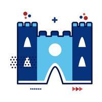 ilustração em vetor estilo simples monumento catedral de notre dame frança