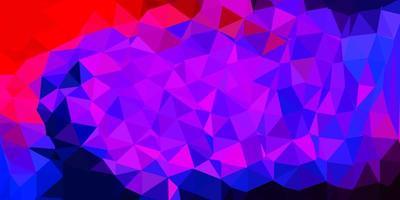 desenho de polígono gradiente de vetor azul claro e vermelho.