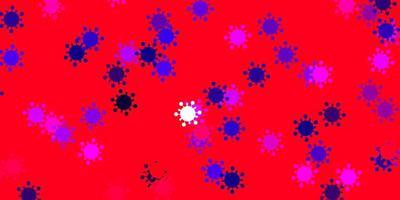 textura vector roxo claro, rosa com símbolos de doenças