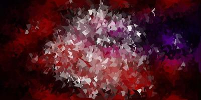 layout de polígono gradiente de vetor rosa escuro e vermelho.
