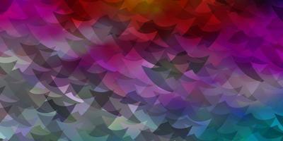 luz de fundo vector multicolor com triângulos, retângulos.