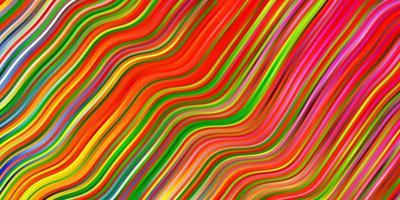 cenário de luz multicolor vetor com arco circular.