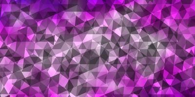 padrão de vetor roxo claro com estilo poligonal.