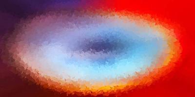 luz padrão poligonal de vetor azul e vermelho.