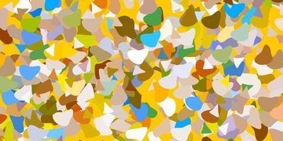 fundo vector azul claro e amarelo com formas aleatórias.