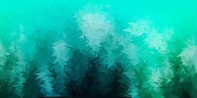 cenário de mosaico de triângulo de vetor verde claro.