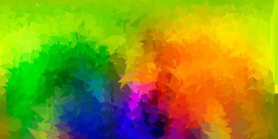 papel de parede poligonal geométrico de vetor multicolorido claro.