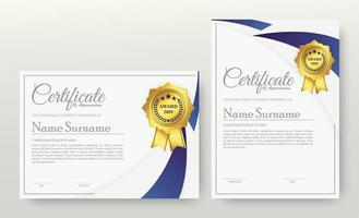 certificado de associação do melhor conjunto de diploma de prêmio vetor