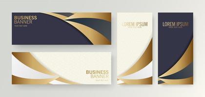 banner de negócios de luxo com fundo curvo vetor