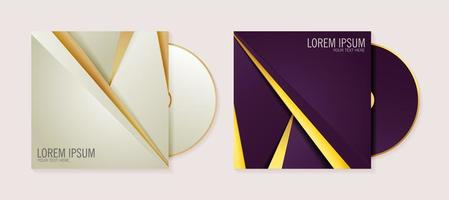 conjunto de modelos de capa de CD de negócios abstratos de luxo vetor