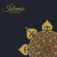 Fundo decorativo luxuoso de estilo islâmico com mandala vetor