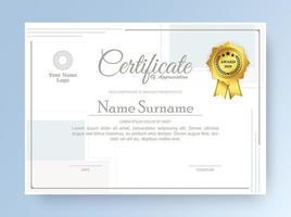 modelo de certificado de membro do melhor prêmio de diploma vetor