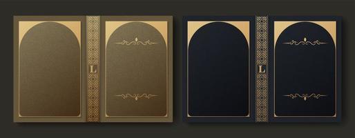 design de capa de livro ornamental premium vetor