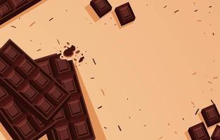 fundo de barra de chocolate escuro vetor